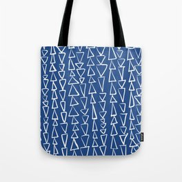 Blue Jazz Triangles Tote Bag