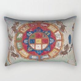 Tibetan Blood-letting Chart Rectangular Pillow