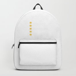Letting Go 5 Stars Backpack