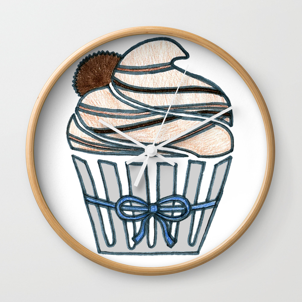 Peanut Butter Cup Cupcake Wall Clock by Designthebranch CLK7823996