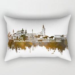 Pardubice skyline city brown #pardubice Rectangular Pillow