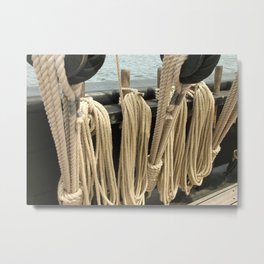 Ropes on a Ship Metal Print