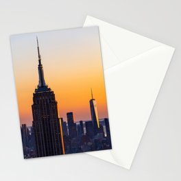 Empire State Sunset Stationery Cards