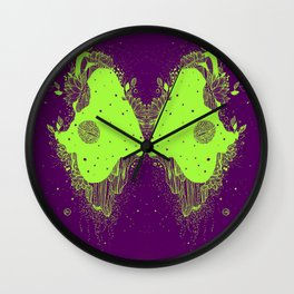 The eyes of universe Wall Clock