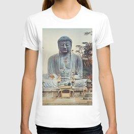 The Bronze Buddha at Kamakura, hand–colored albumen silver print from Japan T-shirt