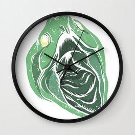 biting turtle Wall Clock
