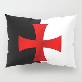 Dual color knights templar red cross Pillow Sham