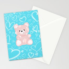 Patched Teddy Love Stationery Cards