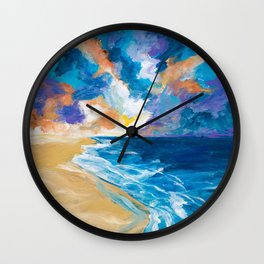 Stormy Sea Wall Clock