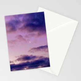 Crescent Moon in the Morning Stationery Cards