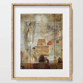 The Discovery of America - Christopher Columbus - Salvador Dali Serving Tray
