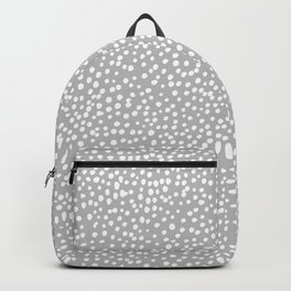 Little wild cheetah spots animal print neutral home trend cool gray black  Backpack
