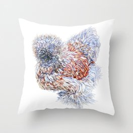 Silkie Chicken - Maple Taffy Throw Pillow