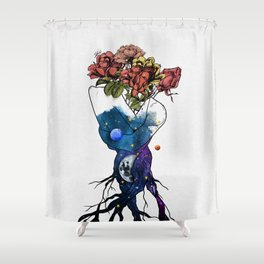 Roots of love. Shower Curtain
