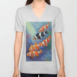 Clownfish Paradise Unisex V-Neck