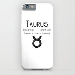 Taurus Horoscope Astrology Star Sign Birthday Gift iPhone Case