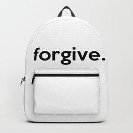 forgive. Backpack