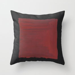 Sideways Red Square Throw Pillow