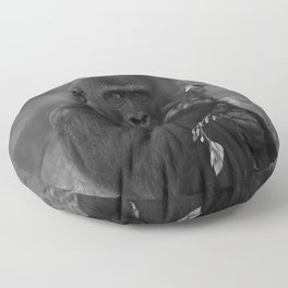 Cheeky Gorilla Lope Mono Floor Pillow