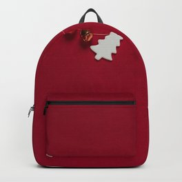 Christmas Decorations on Red (Color) Backpack