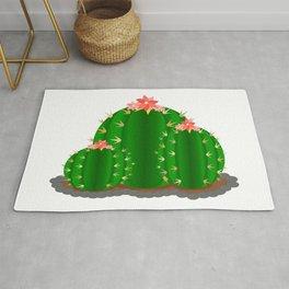 Round Cactus Family Rug