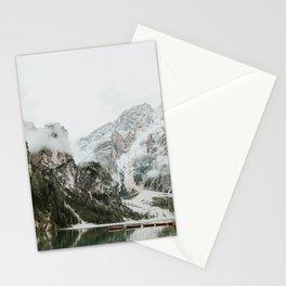 Lago di Braies, Dolomites | Colourful Travel Photography | Dolomiti, Italy (Europe) Stationery Cards