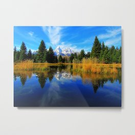 Photo USA grand teton national park Wyoming Nature Mountains Sky Lake Parks Forests Scenery mountain forest landscape photography Metal Print