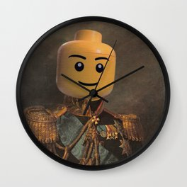 Le-go Man General Portait Painting | Fan Art Wall Clock