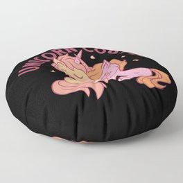 Unicorn couple hugging each other Floor Pillow