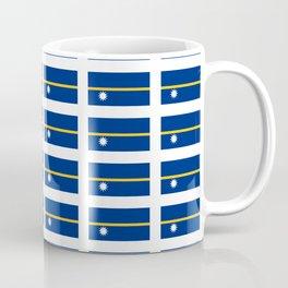 Flag of Nauru-Nauruan, Naoero,Pleasant Island,meneng,Yaren,phosphate Coffee Mug