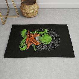T-Rex Dinosaur Zen Yoga Meditation Rug