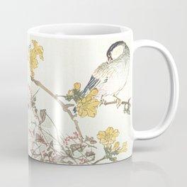 Birds and flowers - Japanese inspired watercolour Coffee Mug