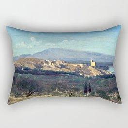 Jean-Baptiste-Camille Corot Villeneuve-les-Avignon Rectangular Pillow