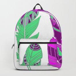 Three Feathers Purple Backpack