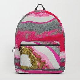 Fuchsia Geode Backpack