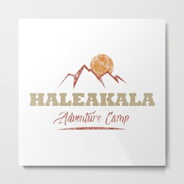 Haleakala Camping  TShirt Adventure Camp Shirt Camper Gift Idea Metal Print