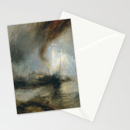 "Tempête de neige en mer ""Snow Storm - Steam-Boat off a Harbour's Mouth"", William Turner, 1842 Stationery Cards"