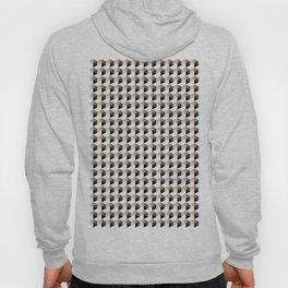 Pantone Hazelnut Hexagon, Cube Pattern Optical Illusion Hoody