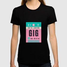 Baggage Tag A - GIG Rio De Janeiro Galeao Brazil T-shirt