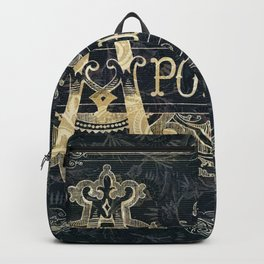 Victorian Apothecary Sign Backpack