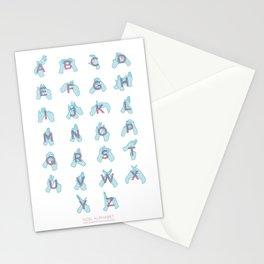 NZ Sign Language Alphabet Stationery Cards