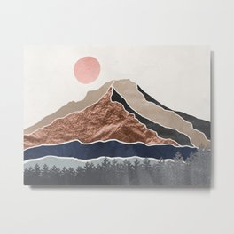 Mount Hood Oregon - Daylight Wilderness Metal Print