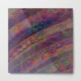 Abstract Rainbow Art - Purple Oil Slick Ripples / Waves Metal Print