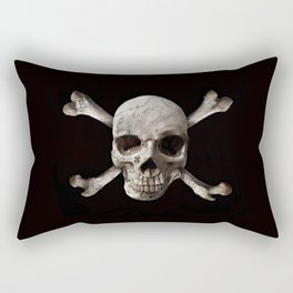 Jolly Roger - Black and Bone Rectangular Pillow