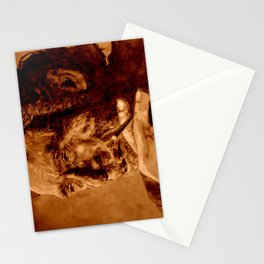 Charles Bukowski - quote - sepia Stationery Cards