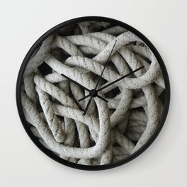 a skein of fishing rope    Wall Clock