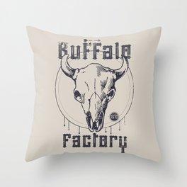 BUFFALO FACTORY  Vintage Skull Throw Pillow