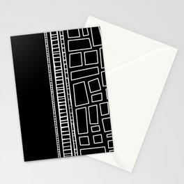 Black and White Squares Stationery Cards