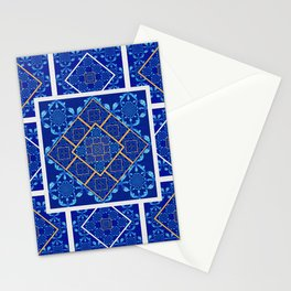 Geometric Fractal Moroccan Tile Quilt Stationery Cards