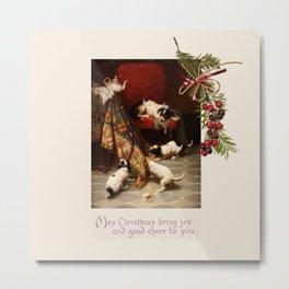 Pet Lover Christmas Greeteengs Metal Print